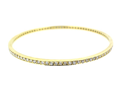 Bangle with diamond in 14K YELLOW GOLD - 1006JNBD