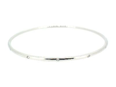 Bangle with diamond in 14K WHITE GOLD - 1044JNBD