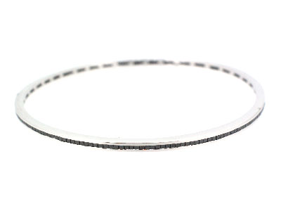 Bangle with diamond in 14K WHITE GOLD - 1074JNBD