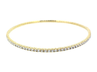 Bangle with diamond in 18K YELLOW GOLD - 117BJNBD