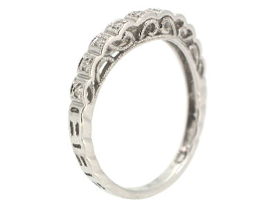 Wedding Band in 18K WHITE GOLD - 1833BJNRB