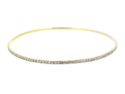 Bangle with diamond in 14K WHITE GOLD - 316JNBD