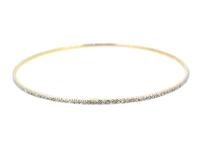 Bangle with diamond in 14K WHITE GOLD - 318JNBD